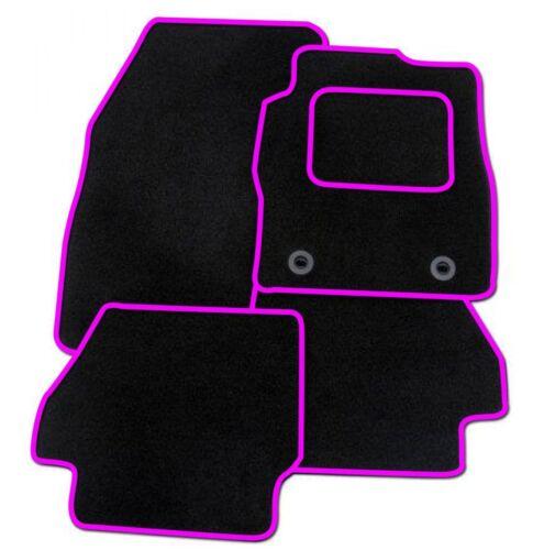 PEUGEOT 308CC TAILORED BLACK CAR MATS WITH PINK TRIM
