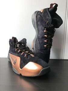 98dd489f0b5c8 Nike Men s Zoom Penny VI Shoes Black Copper Size 14 749629-001 ...