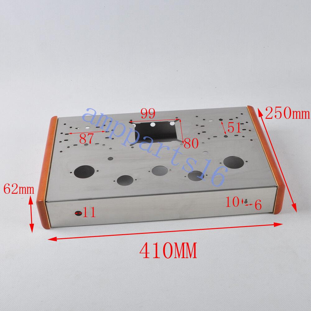1pc 1pc 1pc Chasis De Acero Inoxidable de Lujo Tweed 300B 2A3 300B Amplificador de tubo de KT88 Hágalo usted mismo 1567f2