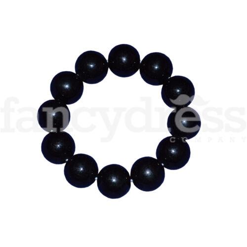 Black Beaded Elasticated Bracelet Flamenco Dance Fancy Dress Accessory NEW