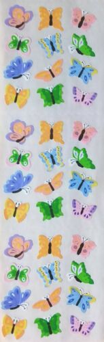 Sandylion COLORFUL BUTTERFLIES  Stickers Vintage RARE Full Strip!