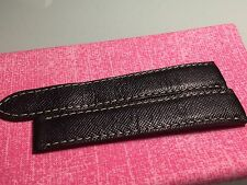 AUTHENTIC CARTIER BLACK LIZARD DEPLOYMENT STITCHED STRAP 18mm