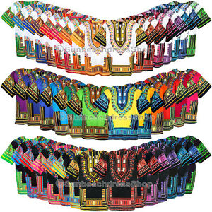 42-Color-Dashiki-African-Mexican-Poncho-Tribal-Shirt-Blouse-Cotton-Unisex-Var-AU