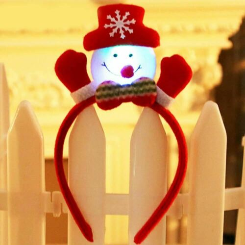 LED Flashing Light Up Glittering Christmas Headband Xmas Party Decorative Head ☃