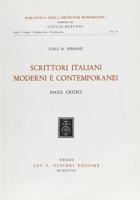 Scrittori italiani moderni e contemporanei. Saggi critici