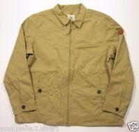 Timberland Men's Full Zip Beige/tan Cotton Jacket