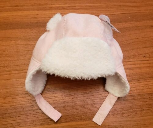 NEW Old Navy Baby Girls 0-6 12-18 MONTHS Pink Trapper Hat Winter Fall #37319