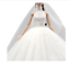 Veil Princess Clothes for Barbie Doll White Wedding Lace Dress Layered Gown