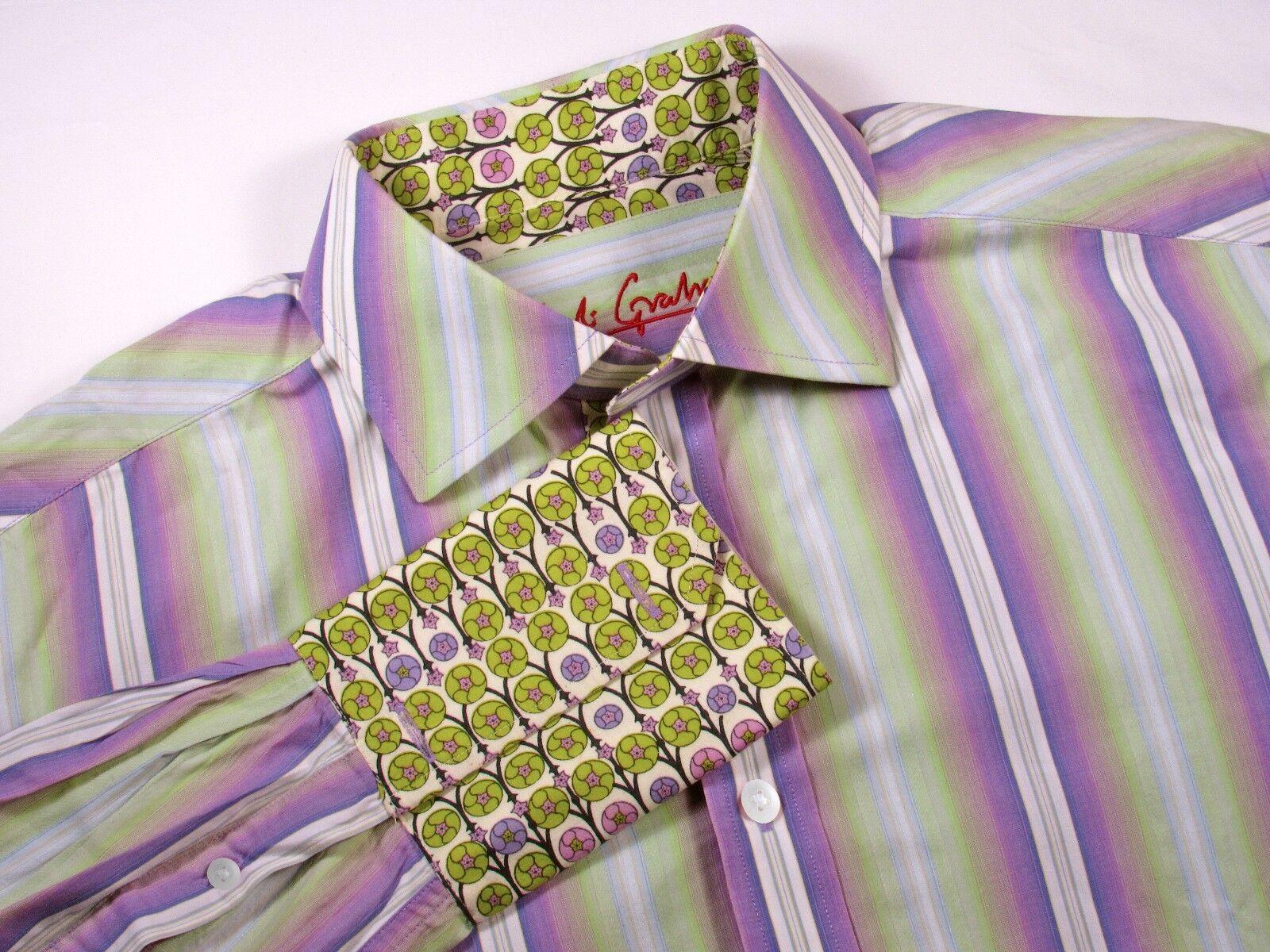 ROBERT GRAHAM - Men's XL - Nordstrom Dress & Casual Shirt - Perfect FRENCH CUFF