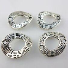 10pcs Tibetan Silver Irregular Rings Beads Charms Connectors15x18mm