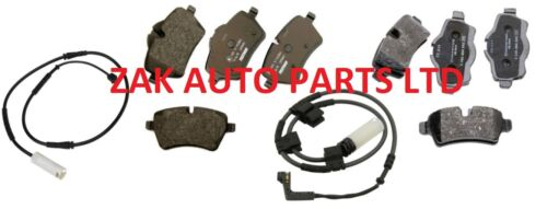 MINI COOPER R56 S DIESEL FRONT REAR BRAKE DISC PADS SET WITH WEAR SENSOR WIRES
