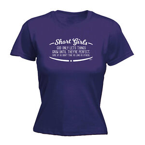 Funny-Novelty-Tops-T-Shirt-Womens-tee-TShirt-Short-Girls-God-Only-Lets-Things