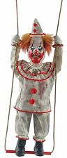 Halloween SWINGING HAPPY CLOWN DOLL ANIMATED Prop Haunted House NEW