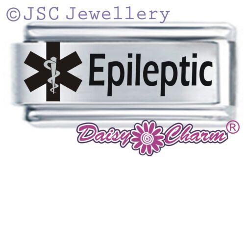 Daisy encanto italiano alerta médica-epilépticos-se adapta tamaño clásico de nominación