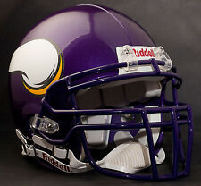 Item 1 ADRIAN PETERSON Edition MINNESOTA VIKINGS Riddell AUTHENTIC Football Helmet NFL