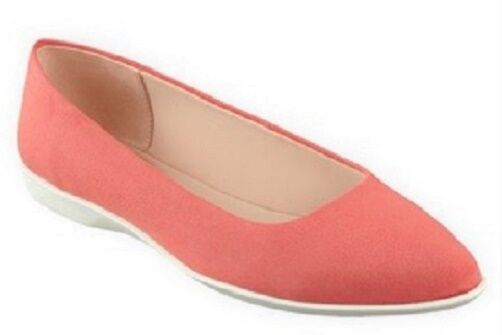 Easy Spirit Madella pointy toe flats RED lightweight flexible 10 WIDE  Defect