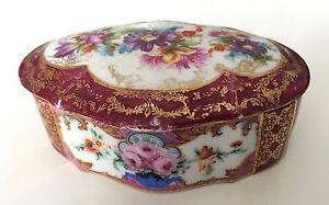 Ancienne boite en porcelaine de Derby- antique porcelain signed crown 2051NArj-09092217-590550837