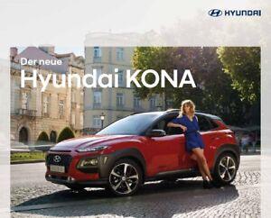 2018 MY Hyundai Kona 11 / 2017 catalogue brochure Austria German -  Varsovie, Polska - 2018 MY Hyundai Kona 11 / 2017 catalogue brochure Austria German -  Varsovie, Polska
