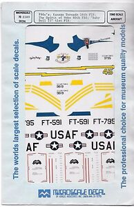Open Envelope Microscale F-80C Shooting Star Decals in 1/72 389, 3 Options