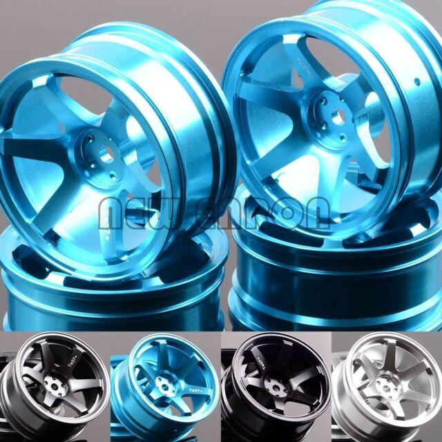 RC 4P Aluminum 6 Spoke Wheel Rim 1052 For 1/10 On-Road Drift Sakura HSP Tamiya