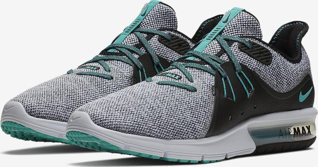 BNIB NEW Men Nike Air Max Sequent 3 grau   Hyper Jade- UK 10