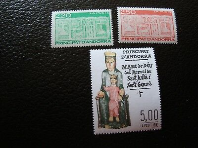 francais - Timbre Yvert/tellier N° 410 A 412 N** Mnh Various Styles col1 Good Andorre