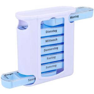 Tablettenbox 7 Tage Tabletten Pillen Box Dose 4 Fächer Aufbewahrung Woche
