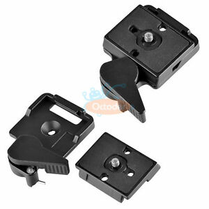 SLR-DSLR-Camera-Lens-Tripod-Quick-Release-Clamp-Plate-Mount-Screw-Adapter-Set