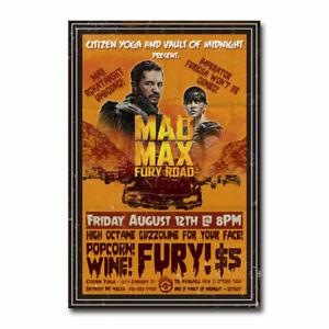 20A378 Mad Max Fury Road Movie Art Poster Silk Deco 12x18 24x36