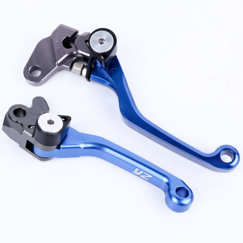 Motors CNC Pivot Brake Clutch Levers For Yamaha YZ80 85 125 250 450 Blue