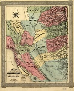 A4-Reprint-of-America-Cities-Towns-States-Map-Mining-District-California
