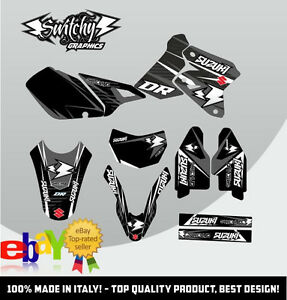 kit adesivi grafiche drop c suzuki dr z 400 sm drz decals. Black Bedroom Furniture Sets. Home Design Ideas