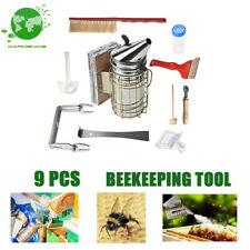 New 9pcs Beekeeping Equipment Tool Bee Hive Smoker Catcher Beehive Supplies