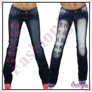 Sexy-Women-s-Crazy-Age-Jeans-Ladies-Bootcut-Casual-Trousers-6-8-10-12-14-UK