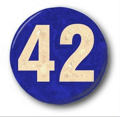 """42"" - 25mm 1"" Button Badge - Novelty Cute Hitch Hikers Guide Douglas Adams"