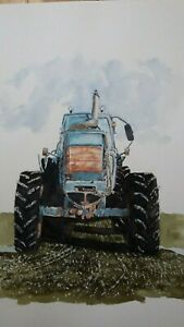 à Condition De Aquarelle Originale,tracteur 2