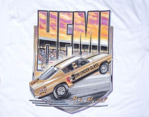 Hemi Under Glass Wheelstander T-Shirt Mopar Hurst NHRA IHRA Drag Race Cuda