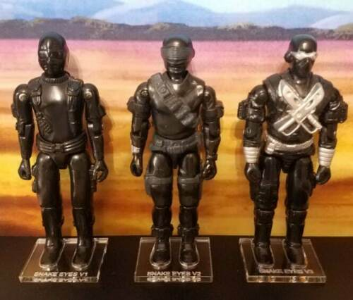 Hasbro G.I Joe Snake Eyes V2 seule loose Figure Stand//Base