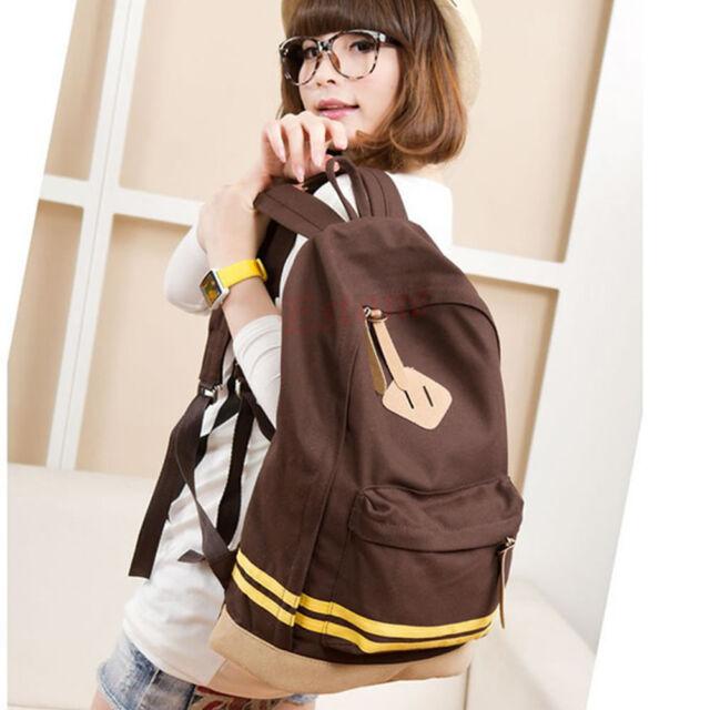 Girl Women Pig Nose Backpack Student School Bag Canvas Travel Rucksack Korean