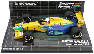 Minichamps Benetton Ford B191b début de saison 1992 - Martin Brundle à l'échelle 1/43
