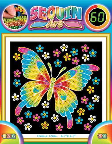 Paillettenbild Paillettenbilder Mammut KSG Sequin Art 60 je 17x17cm ab 5 J.