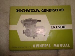 image is loading honda-nos-oem-er1500-generator-owners-manual-w-