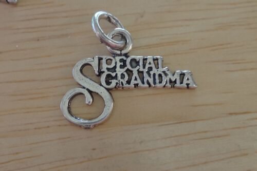Sterling Silver 15x20mm says Special Grandma Charm