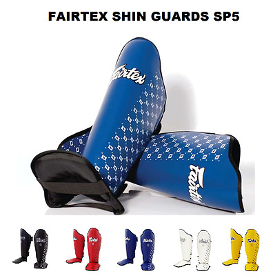 Fairtex SP5 Competition Shin Pads Black Muay Thai Kick Boxing MMA K1 Shin Guards