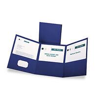 Oxford Tri-fold Folder W/3 Pockets Holds 150 Letter-size Sheets Blue 59802 on sale