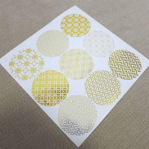 10 Sheets Shiny Gold Baking Packaging Sealing Sticker Paper Sticker
