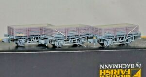 Graham Farish 377-476Z , N Gauge, Set of 3 China Clay Wagons with Hoods