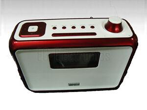 august mb400 dab radio und bluetooth nfc lautsprecher rot w15 kv2098 ebay. Black Bedroom Furniture Sets. Home Design Ideas
