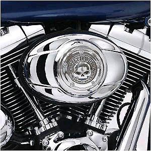 Harley-Willie-G-Skull-Chrome-Air-Cleaner-Cover-99-Up-FLH-FXST-FLST-FXD