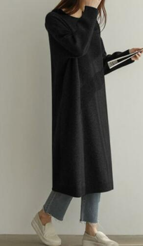 Para Mujer Suéter De Cuello Redondo Suelto perezoso Maxi Vestido Blusa Top Casual Jersey F420